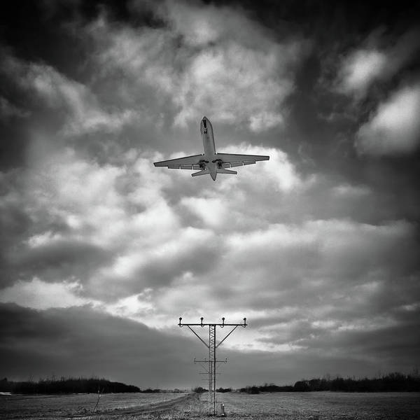 Taking Off Photograph - Airplane In Sky by Peter Levi