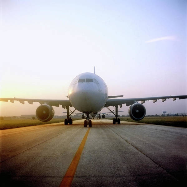 Wall Art - Photograph - Airplane On Runway by Julio Lopez Saguar