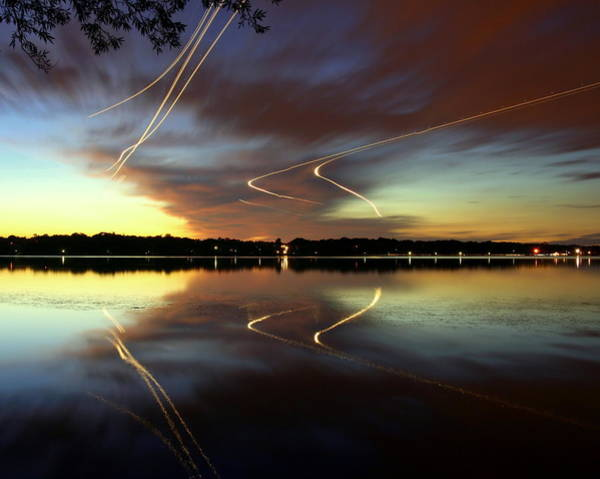 Wall Art - Photograph - Airplanes Over Lake Harriet At by Chris Andersen Photography