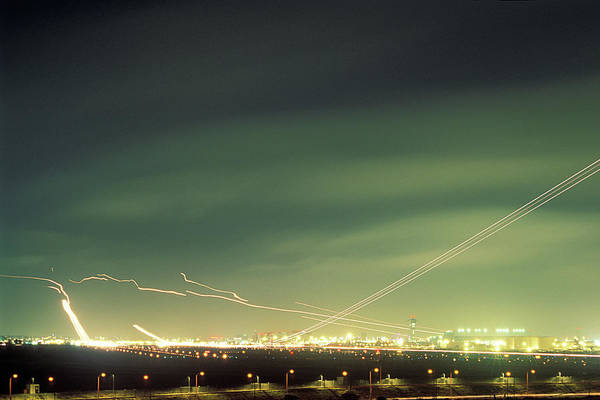 Taking Off Photograph - Airport At Night by Eyetwist / Kevin Balluff