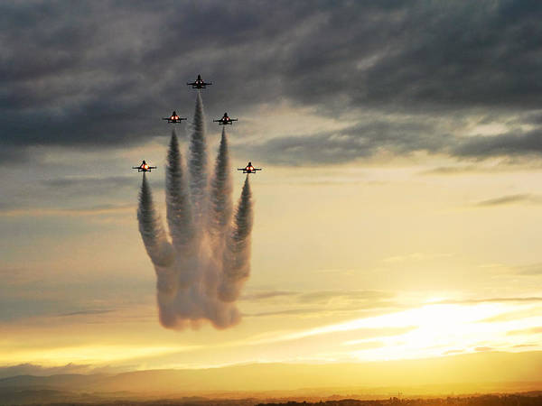 Coordination Wall Art - Photograph - Airshow by Antoine Rouleau