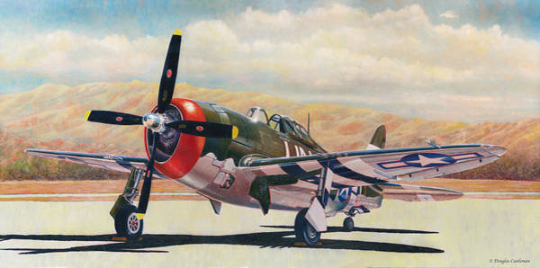 Painting - Airshow Thunderbolt by Douglas Castleman