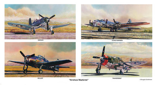 Painting - Airshow Warbirds by Douglas Castleman
