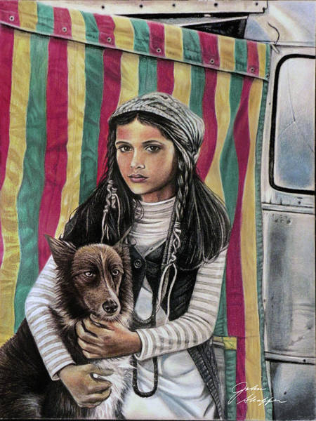 Trailer Drawing - Airstream Gypsy Girl by John Shaffer