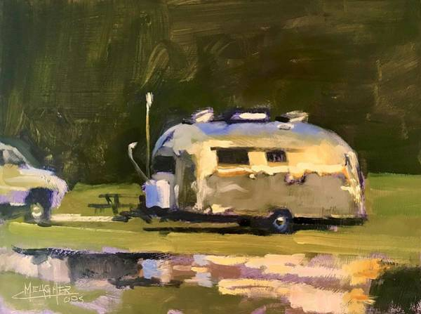 Wall Art - Painting - Airstream Reflections by Spencer Meagher