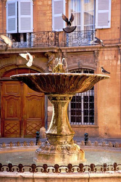 Photograph - Aix Fountain by Brian Jannsen