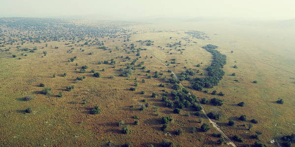 Kigali Wall Art - Photograph - Akagera National Park Aerial by Michael Sugrue