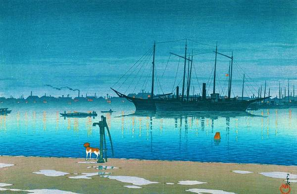 Wall Art - Painting - Akashicho - Top Quality Image Edition by Kawase Hasui