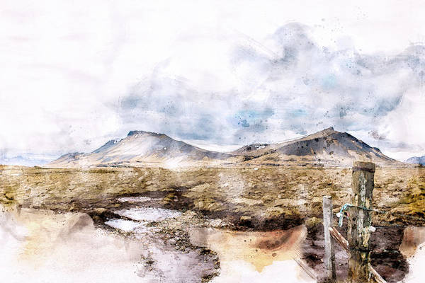 Icelandic Digital Art - Akrafjall On A Beautiful Day by G Ben