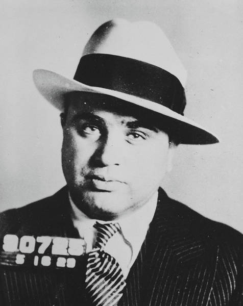 Wall Art - Painting - Al Capone, Scarface by American School
