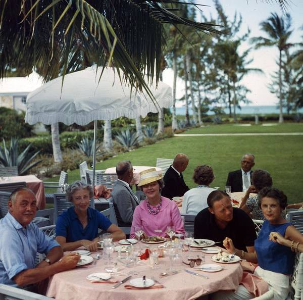 Table Photograph - Al Fresco Luncheon by Slim Aarons