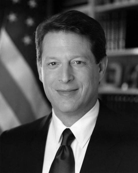 Democratic Party Photograph - Al Gore Portrait - 1994 by War Is Hell Store