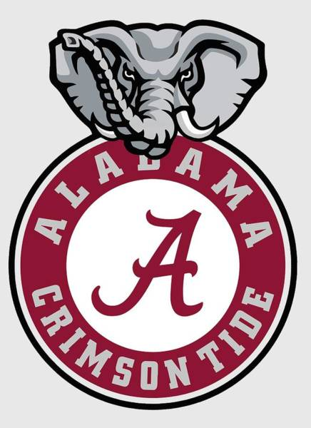 Wall Art - Digital Art - Alabama Crimson Tide Elephant T-shirt by Daniel Hagerman