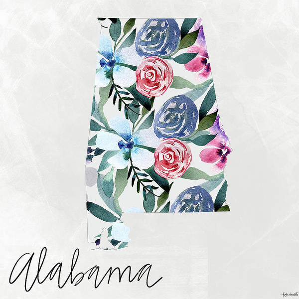 Wall Art - Mixed Media - Alabama by Katie Doucette