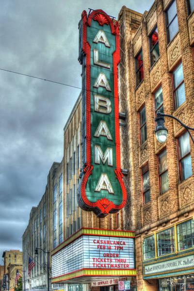 Photograph - Alabama Theatre 7 Historic Birmingham Alabama Signage Art by Reid Callaway