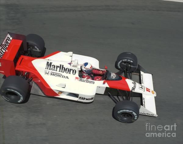 Racing Shell Photograph - Alain Prost. 1988 Detroit Grand Prix by Oleg Konin