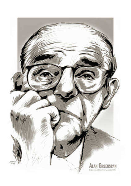 Wall Art - Mixed Media - Alan Greenspan by Greg Joens