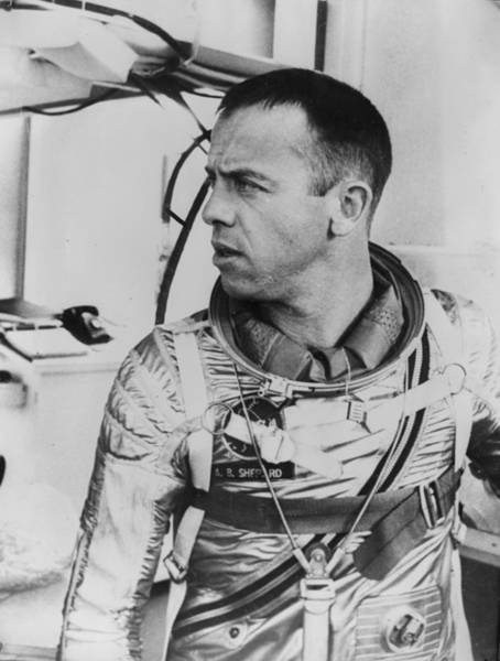 Protective Clothing Photograph - Alan Shepard by Central Press