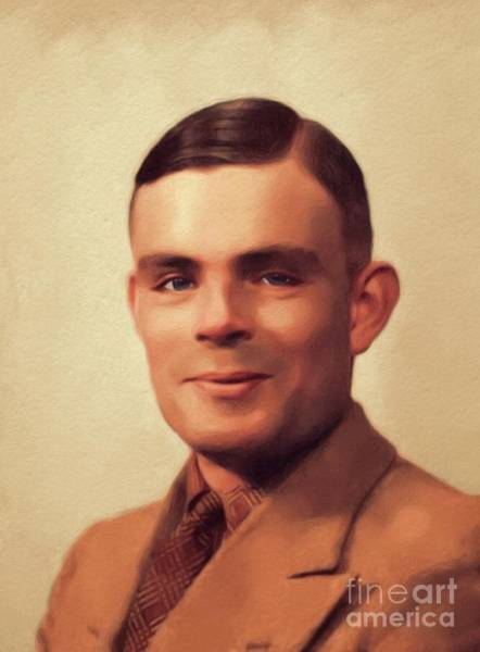 Wall Art - Painting - Alan Turing, Genius by John Springfield