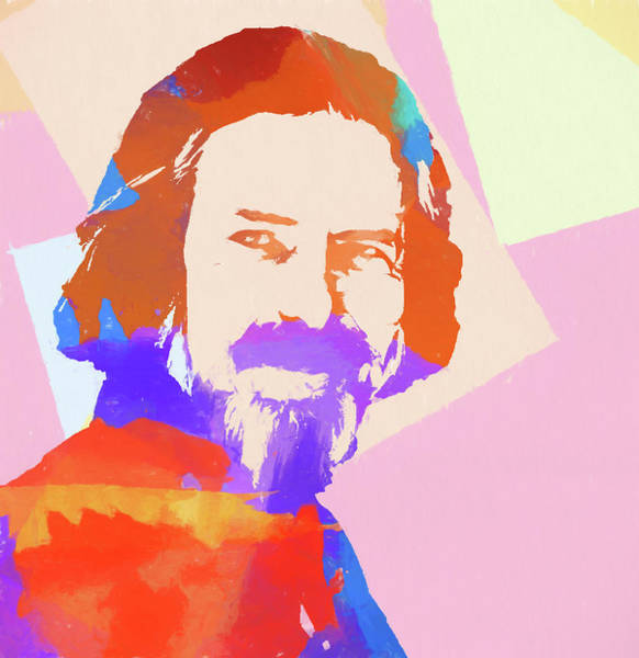 Painting - Alan Watts by Dan Sproul