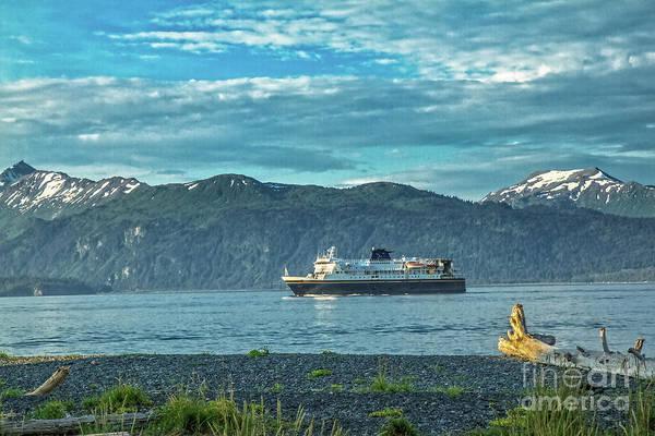 Wall Art - Photograph - Alaskan Ferry Going To Homer by Robert Bales