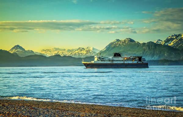 Wall Art - Photograph - Alaskan Ferry On Morning Run To Homer by Robert Bales