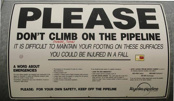 Photograph - Alaskan Pipeline 2994 by Ericamaxine Price
