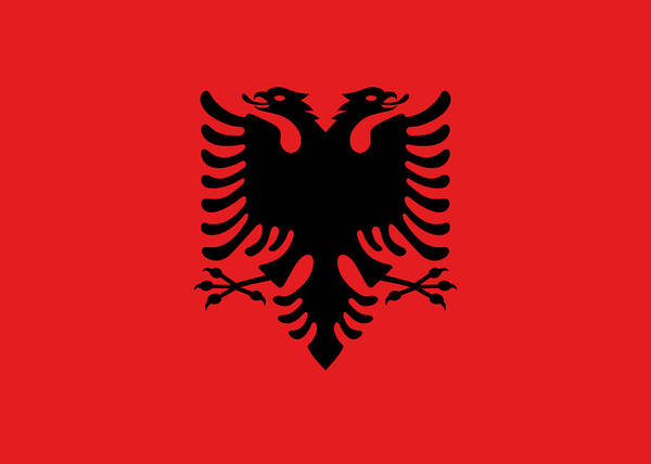 Albania Painting - Albania by Flags