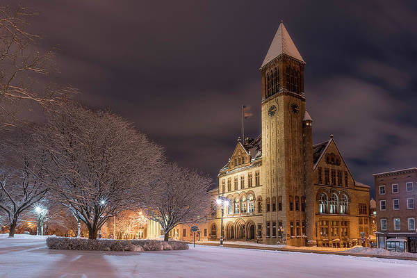 Photograph - Albany City Hall by Brad Wenskoski