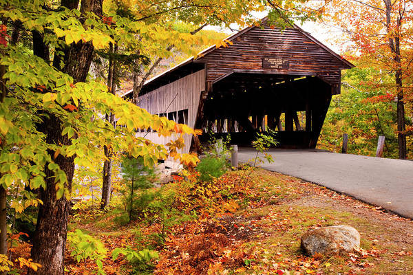 New Hampshire Photograph - Albany Covered Bridge Near Conway, New by Danita Delimont