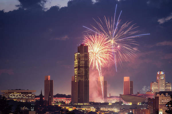 Photograph - Albany Fireworks 2019 by Brad Wenskoski