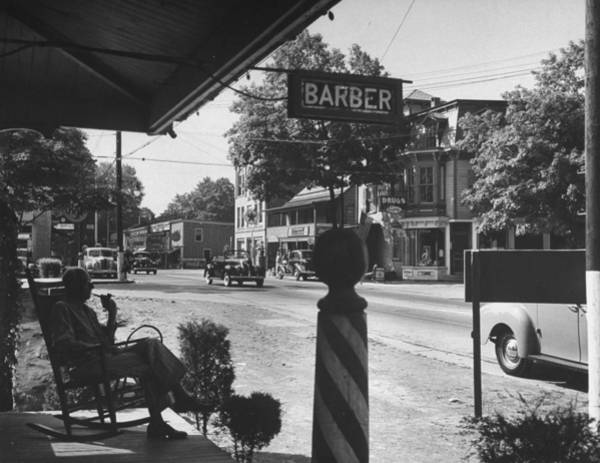 Franklin Park Photograph - Albany Post Road, The Main Street Of Fra by Hansel Mieth