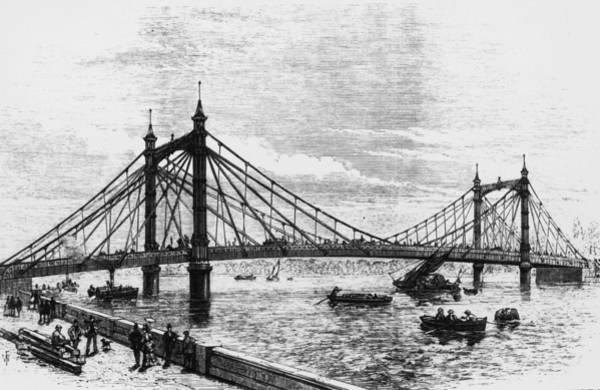 Kensington And Chelsea Photograph - Albert Bridge by Hulton Archive