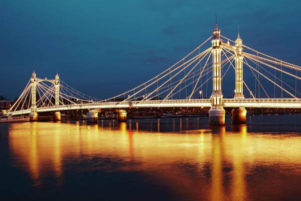 Kensington And Chelsea Photograph - Albert Bridge by Richard James Taylor