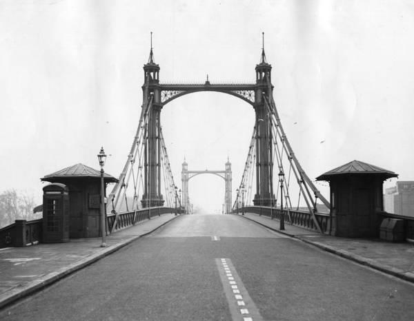 Kensington And Chelsea Photograph - Albert Bridge by Topical Press Agency