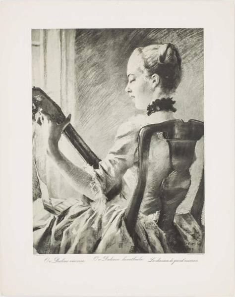 Wall Art - Painting - Albert Edelfelt  1854-1905  Heliogravures by Celestial Images