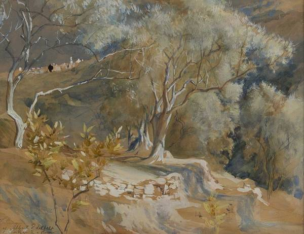 Wall Art - Painting - Albert Edelfelt  1854-1905  Olive Trees by Celestial Images
