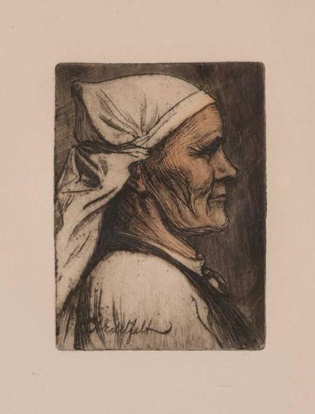 Painting - Albert Edelfelt  .elli Jappinen I Profil by Albert Edelfelt