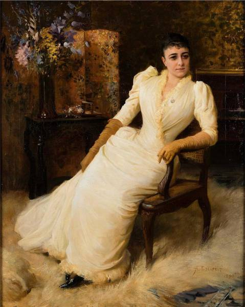 Wall Art - Painting - Albert Edelfelt, Madame Cohen by Albert Edelfelt