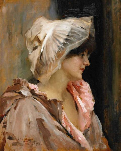 Painting - Albert Edelfelt, Parisian Lady In A Peignoir by Albert EDELFELT