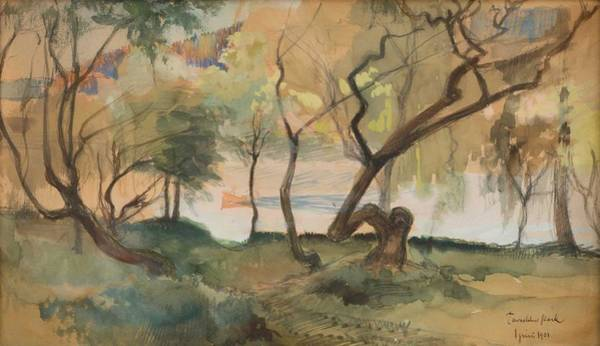 Wall Art - Painting - Albert Edelfelt, Park View, Hameenlinna by Albert Edelfelt