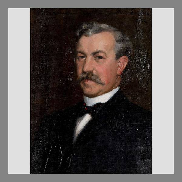 Wall Art - Painting - Albert Edelfelt, Portrait Of Dr. Claes Hakanson by Albert Edelfelt
