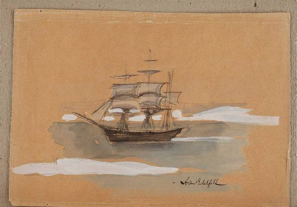 Wall Art - Painting - Albert Edelfelt, The Boat by Albert Edelfelt