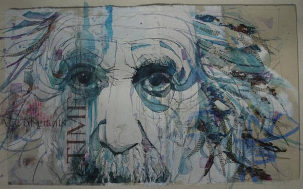 Einstein Wall Art - Mixed Media - Albert Einstein - Age Of Giants by Paul Lovering
