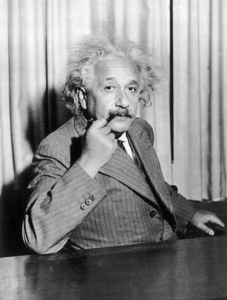 1 Photograph - Albert Einstein At Princeton University by Keystone-france