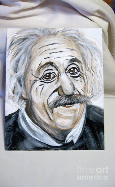 Painting - Albert Einstein by Oksana Semenchenko