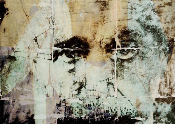 Wall Art - Mixed Media - Albert Einstein - Retro by Paul Lovering
