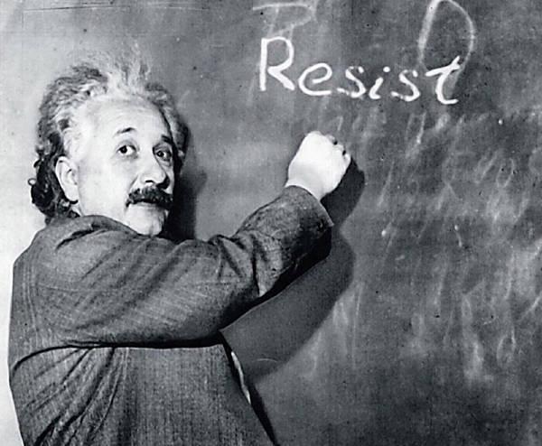 Photograph - Albert Einstein Resistance by Susan Maxwell Schmidt