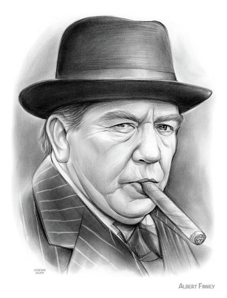 Wall Art - Drawing - Albert Finney by Greg Joens