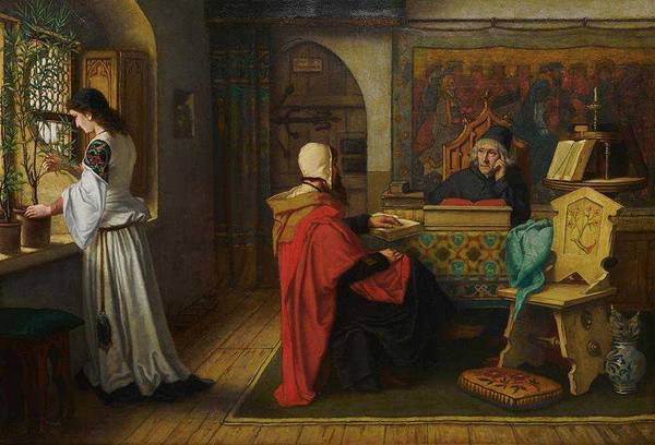 Painting - Albert Frans Lieven De Vriendt, Belgian, 1843-1900, Interior Scene, 1869 by Albert Frans Lieven De Vriendt